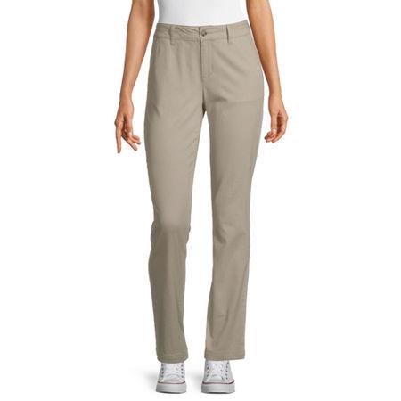 Arizona Slim Fit Straight Pants-Juniors, 15 Short , Beige