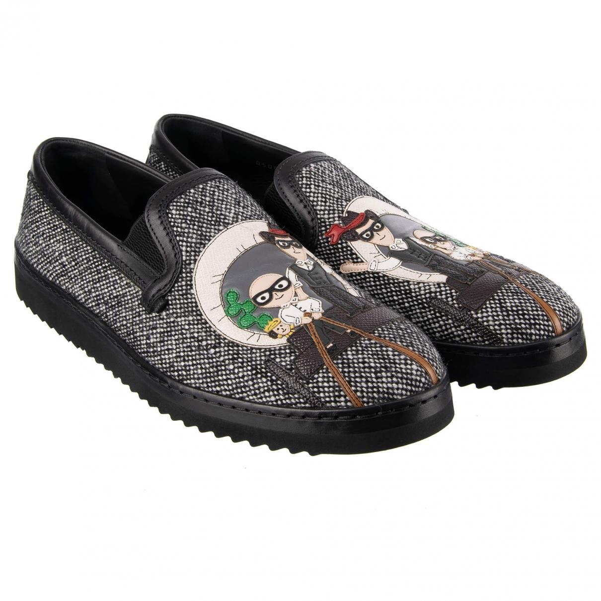Dolce & Gabbana \N Mokassins in  Grau Leinen