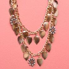 Halskette mit Blatt Dekor