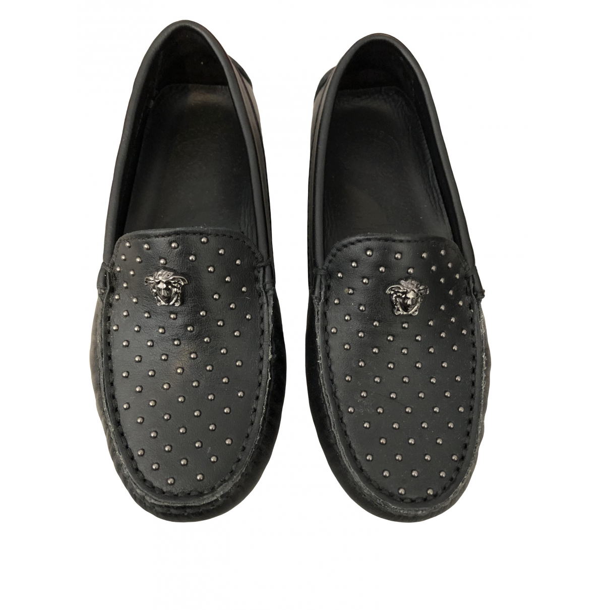 Versace \N Hausschuhe in  Schwarz Leder