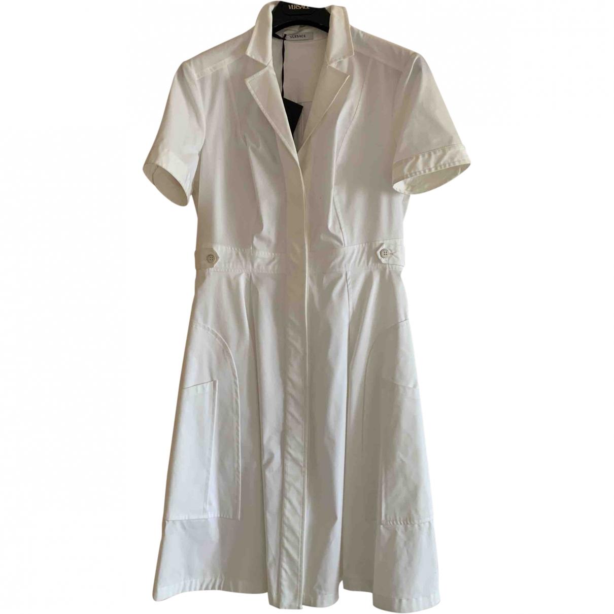 Versace \N White Cotton dress for Women 42 IT