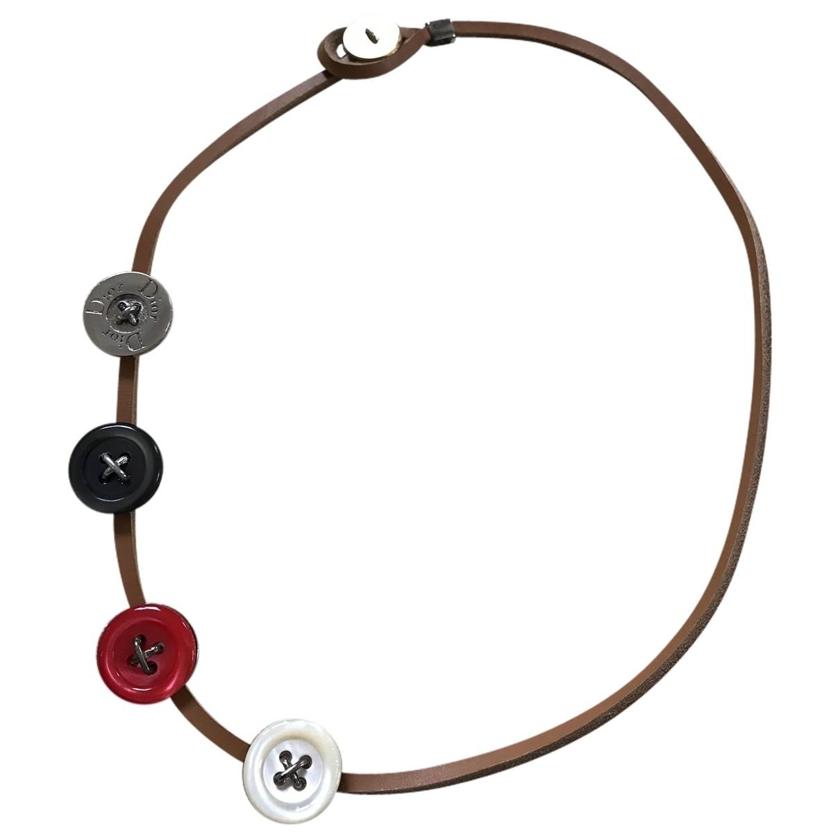 Dior - Collier   pour femme en cuir - multicolore