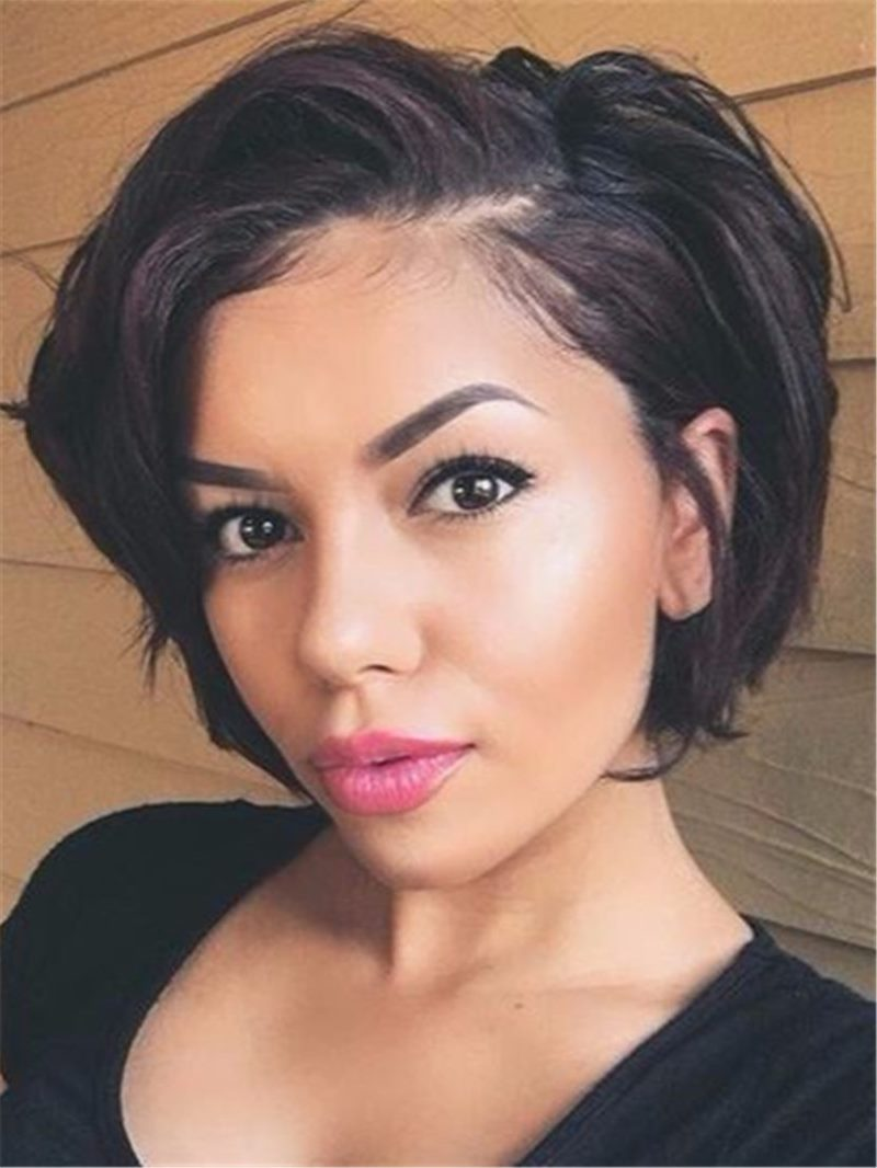 Ericdress Short Wave Layered Loose Synthetic Hair Lace Front Cap Wigs 8 Inches