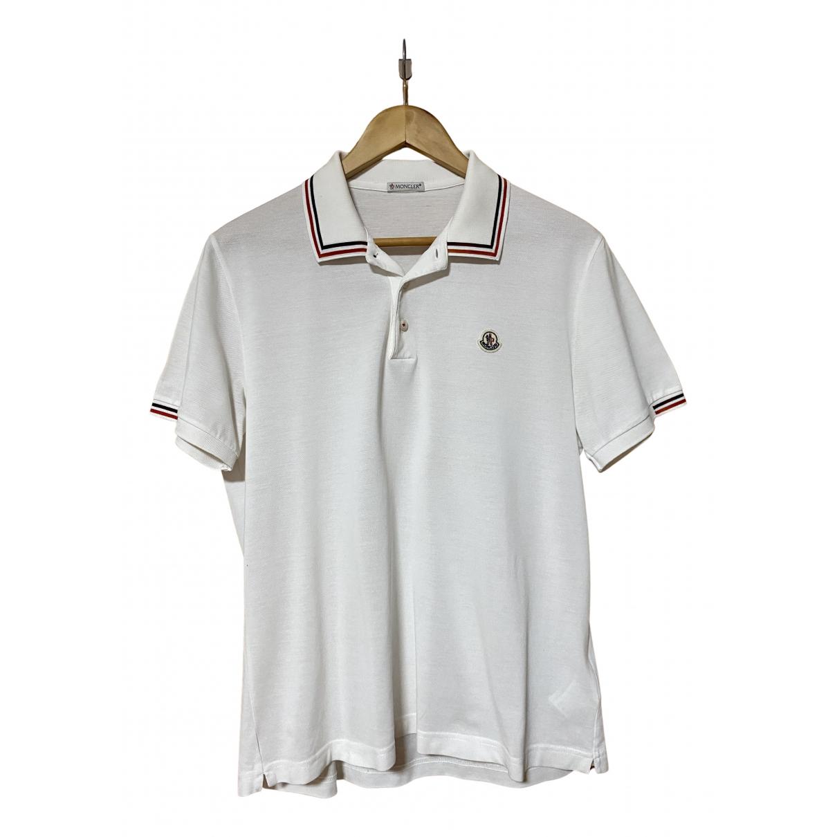 Moncler - Polos   pour homme en coton - blanc