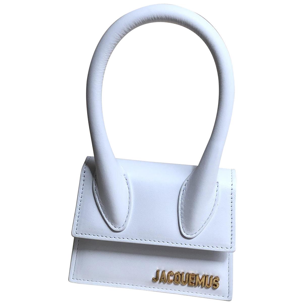 Jacquemus Chiquito Handtasche in  Weiss Leder