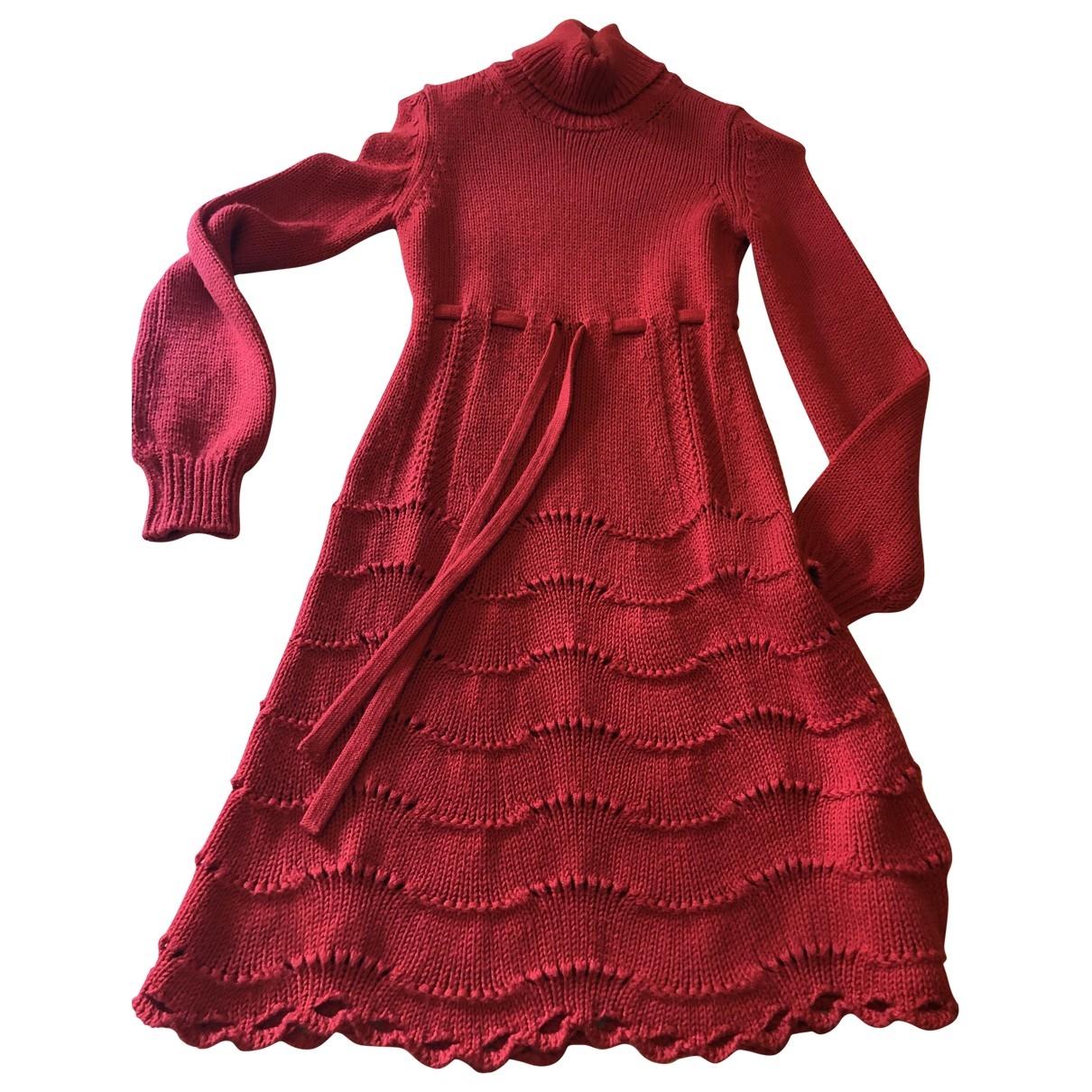 Red Valentino Garavani \N Kleid in  Rot Wolle