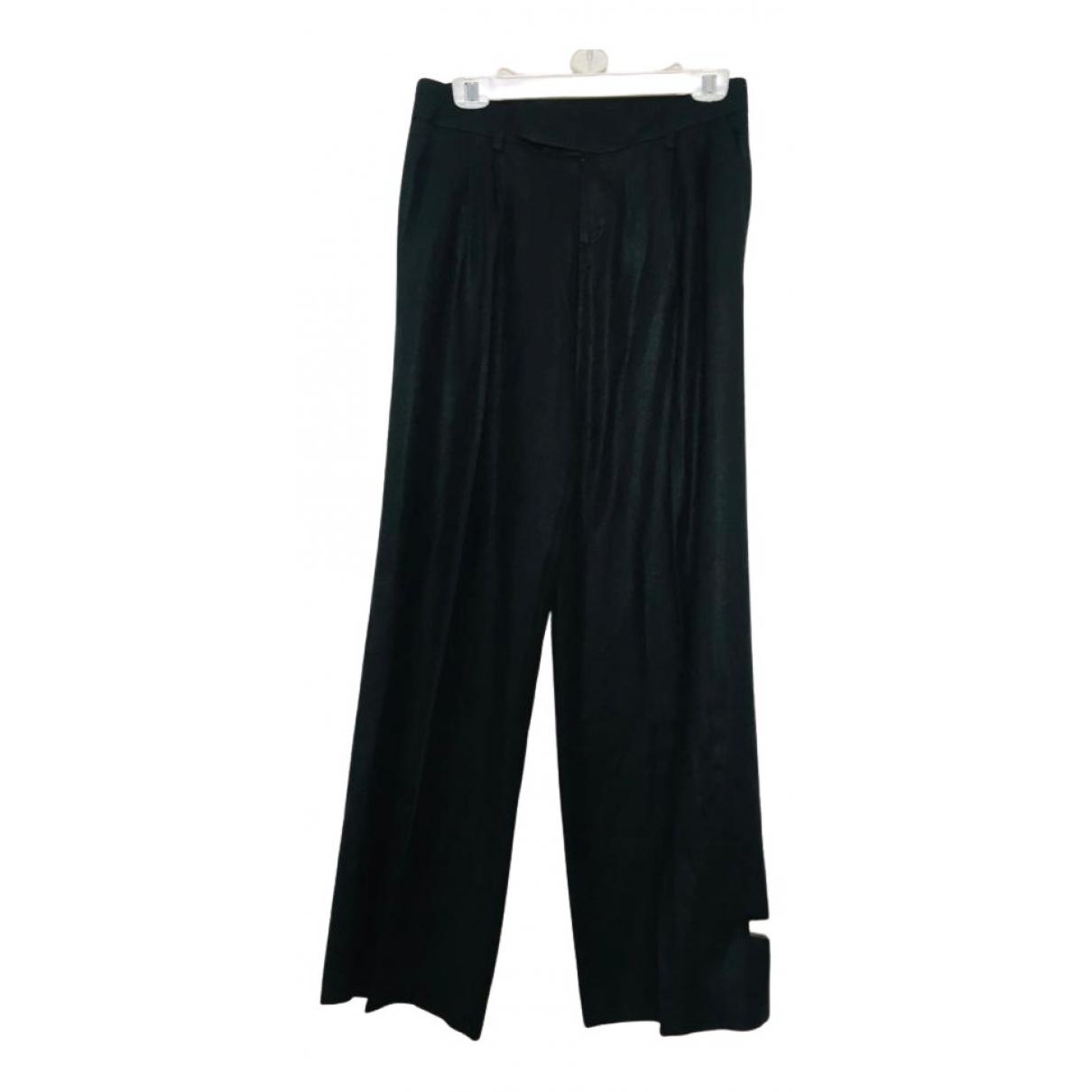 Maje N Black Trousers for Women 34 FR