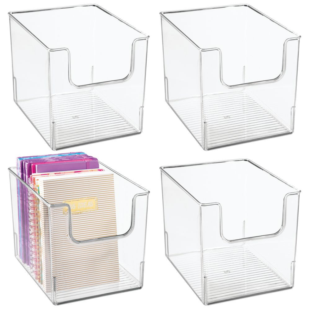 Plastic Home Office Desk Organizer Bin - 10