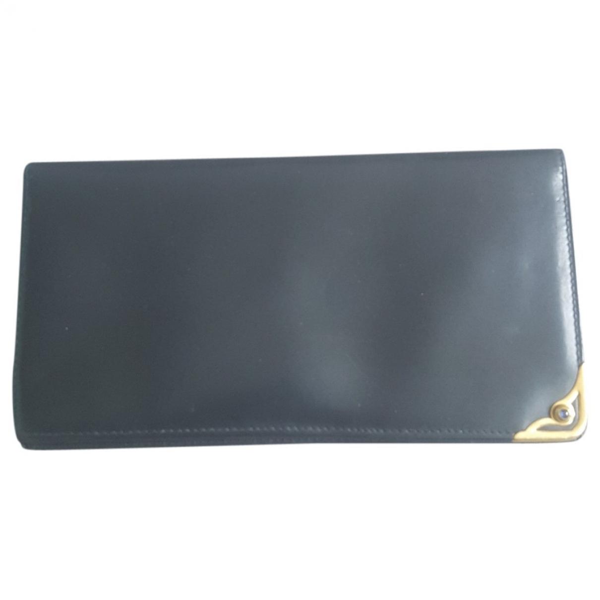 Cartier \N Portemonnaie in  Blau Leder