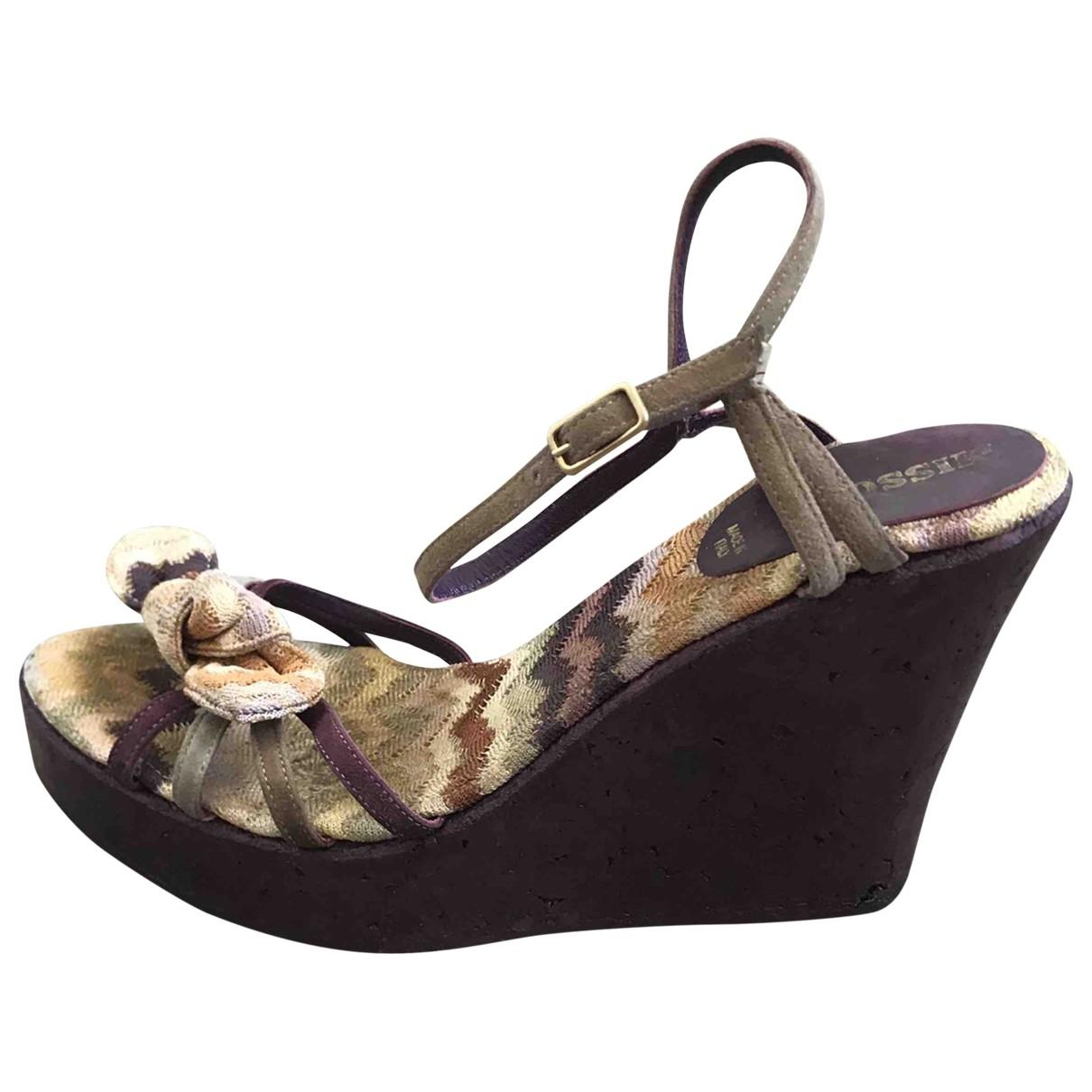 Missoni - Sandales   pour femme en cuir - violet