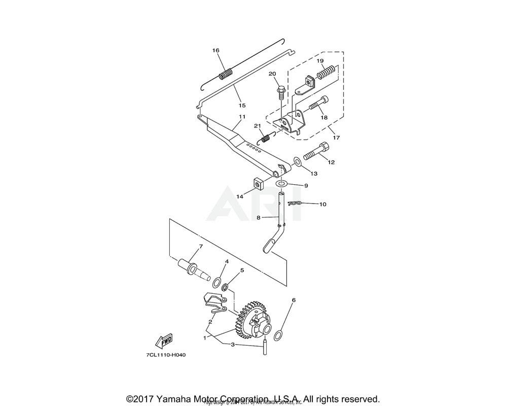 Yamaha OEM 7CT-E1914-00-00 SHAFT, WEIGHT