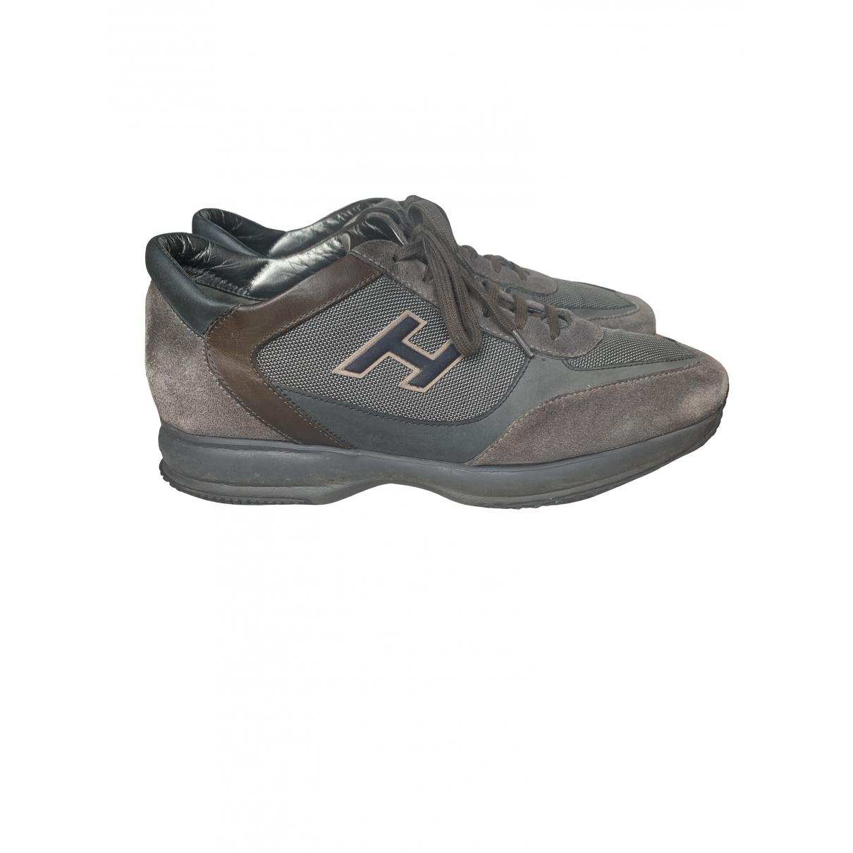 Hogan - Baskets   pour homme en suede - gris