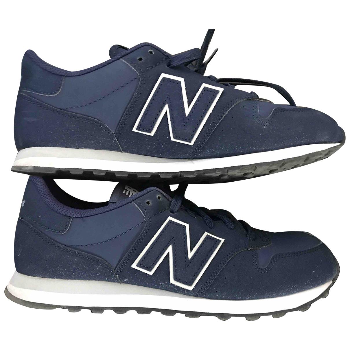 New Balance - Baskets   pour femme en toile - bleu