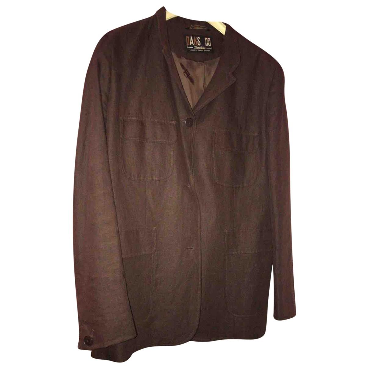 Daks \N Brown Linen jacket for Women 46 IT