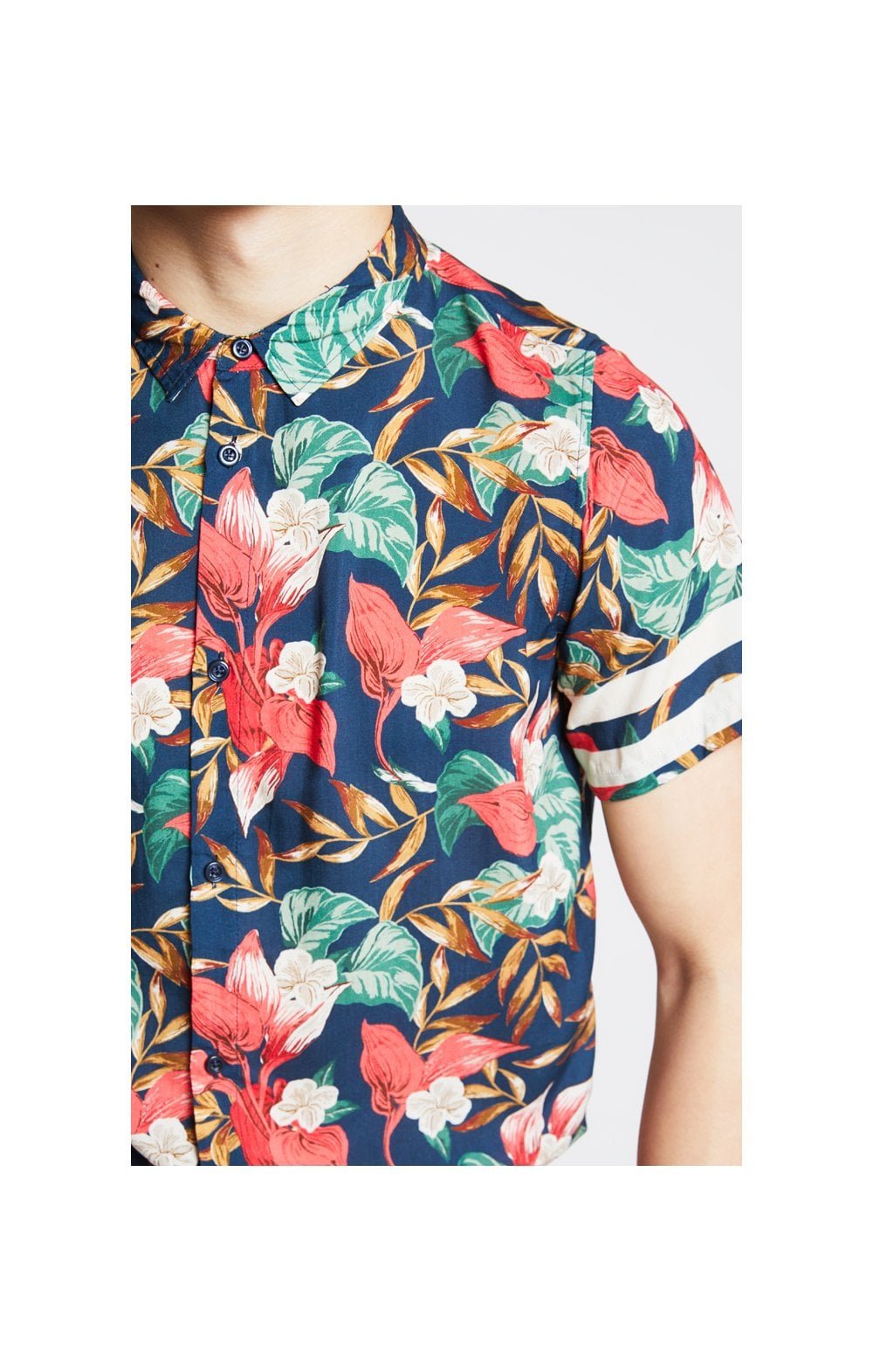 Illusive London Tropical Resort Shirt  Tropical Leaf Kids Top Sizes: 1