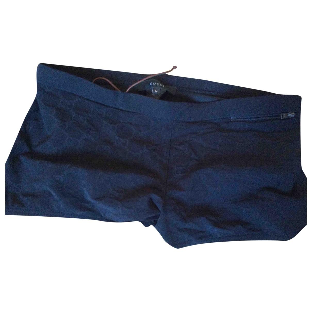 Gucci \N Badeanzug in  Marine Baumwolle - Elasthan