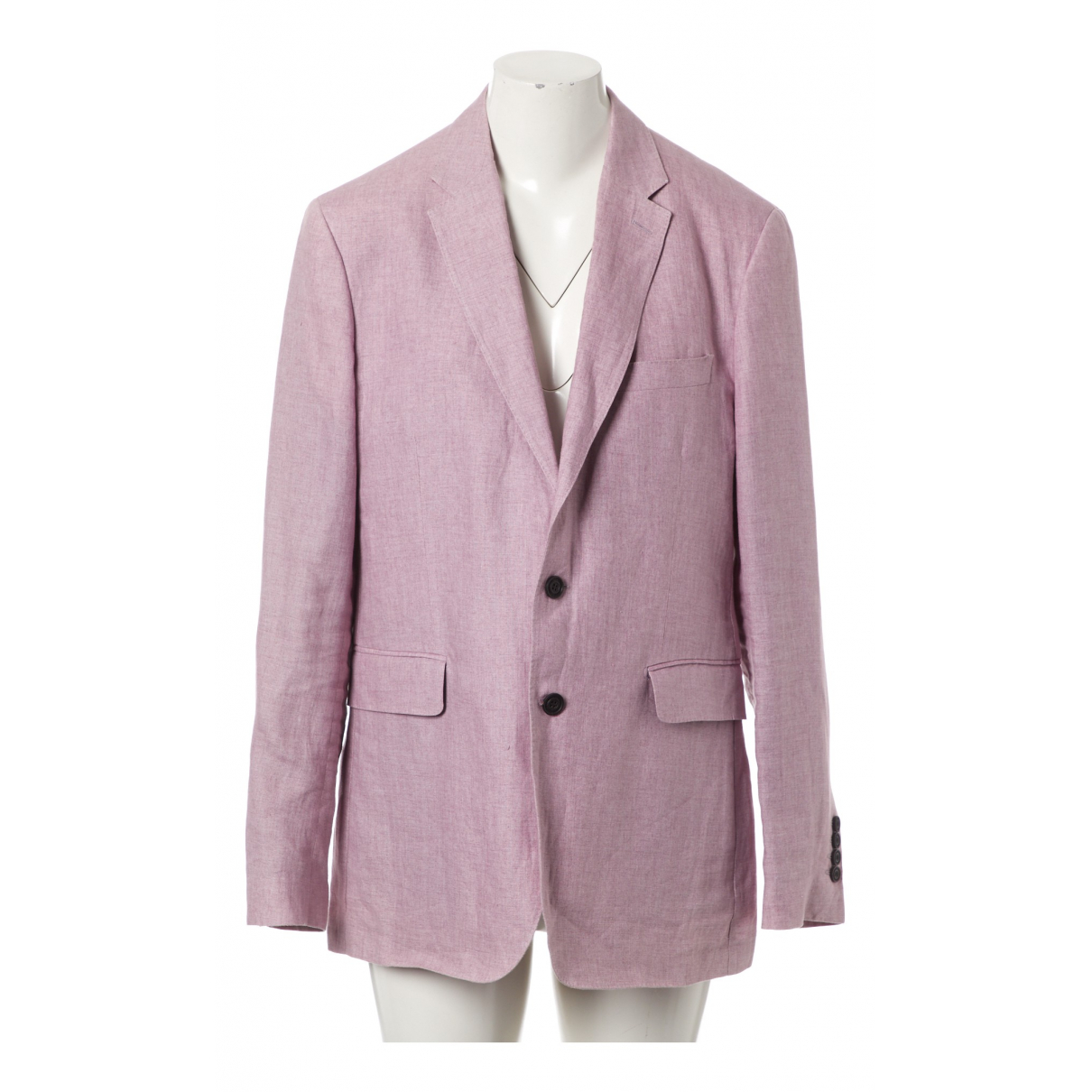 Burberry \N Pink Linen jacket  for Men 52 IT