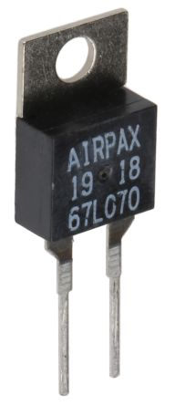 Sensata / Airpax NC 0.5 A Bi-Metallic Thermostat, Opens at+70°C, Automatic Reset