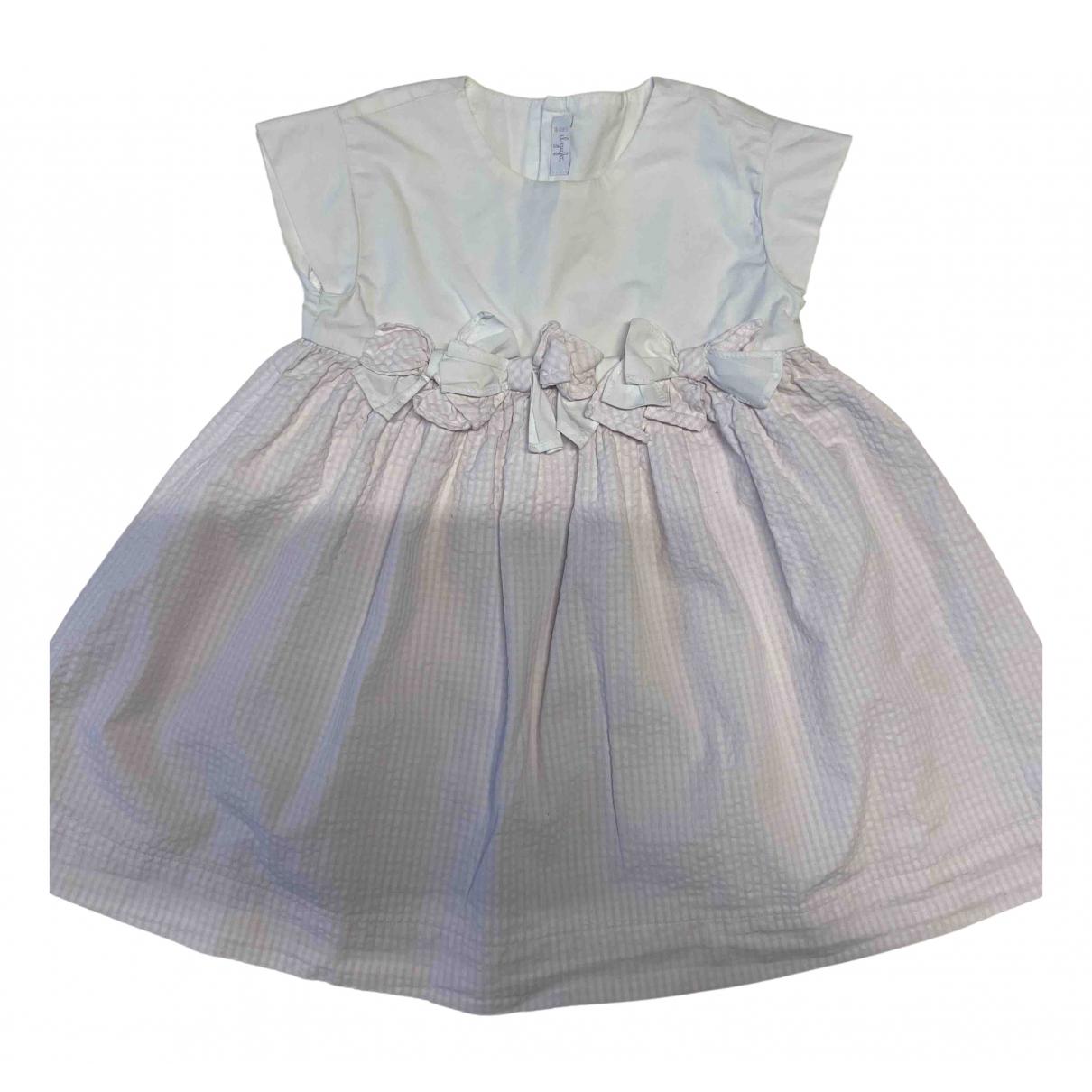 Il Gufo - Robe    pour enfant en coton - rose