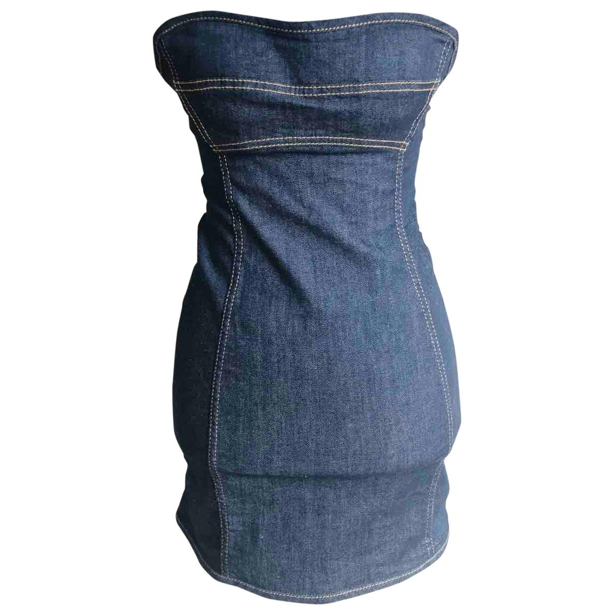 Dsquared2 \N Kleid in  Marine Baumwolle - Elasthan