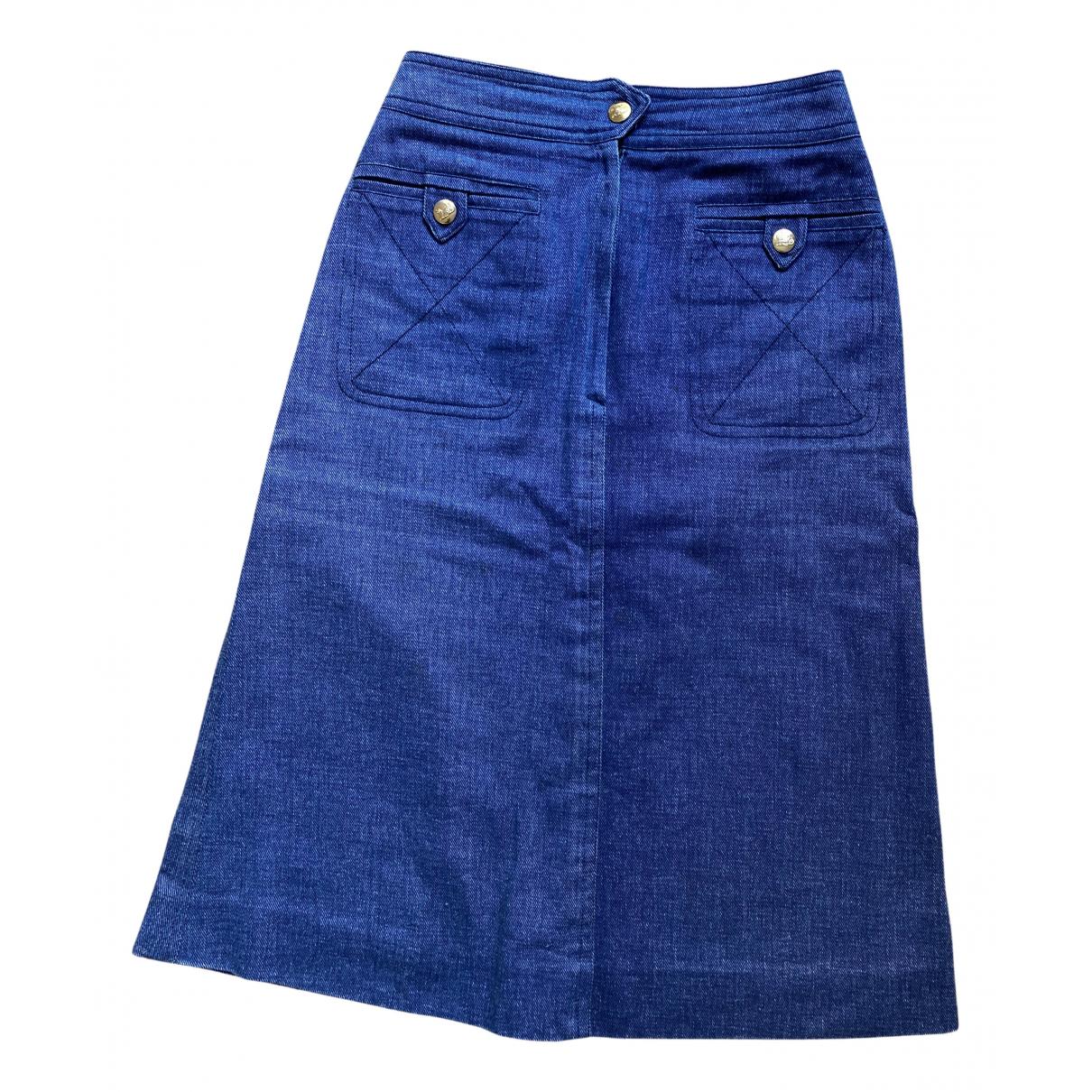 Celine - Jupe   pour femme en denim - bleu