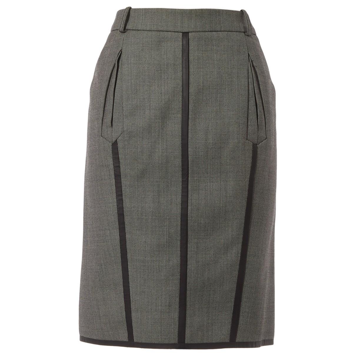 Falda midi de Seda Balenciaga