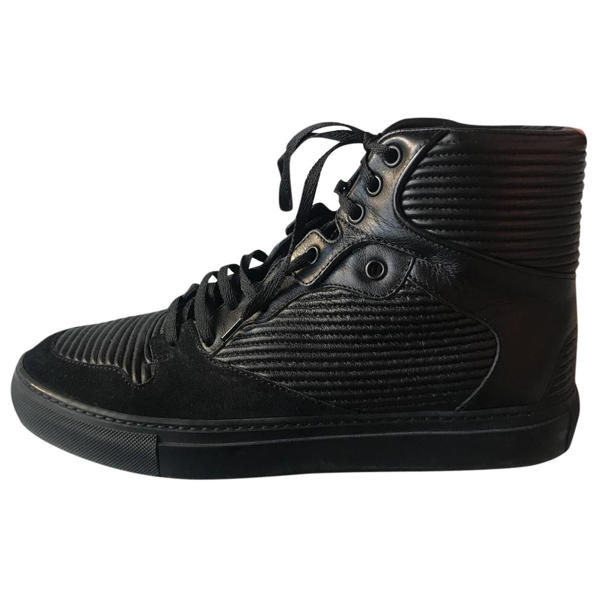 Balenciaga N Black Leather Trainers for Men 39 EU