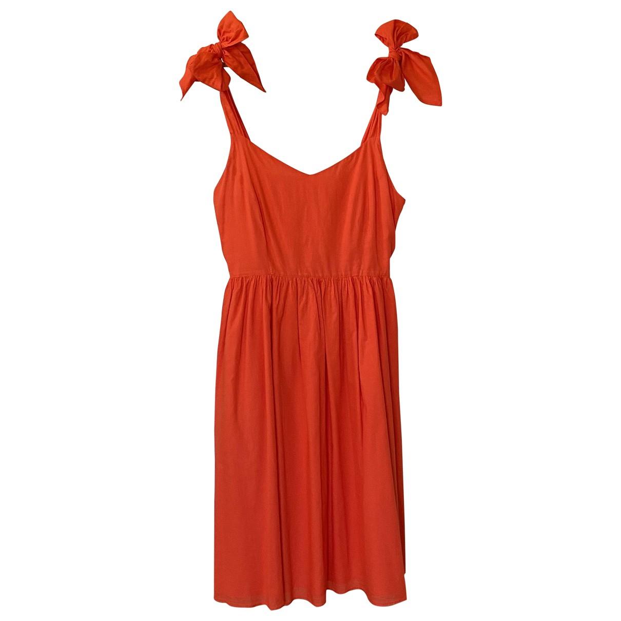 Iris & Ink \N Red Cotton dress for Women 14 UK