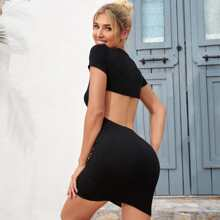 Cut Out Backless Bodycon Dress