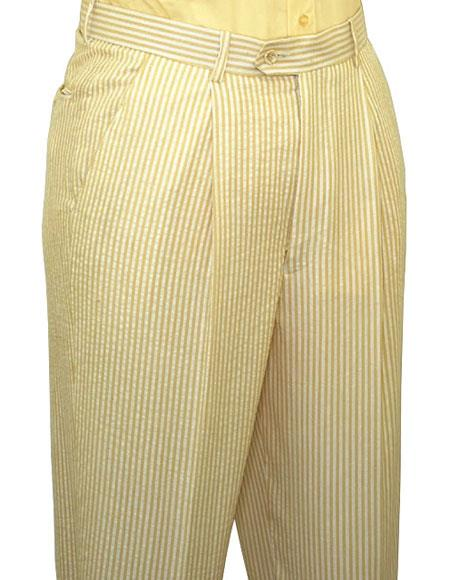 Seersucker Yellow Slacks Dress Pants also other colors available