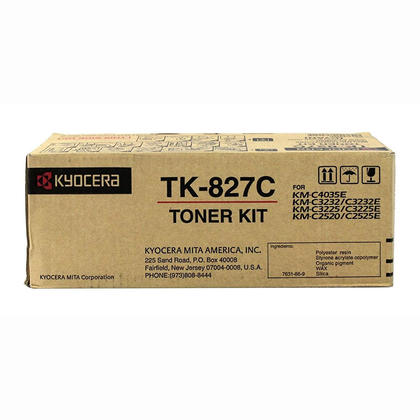 Kyocera-Mita TK827C original Cyan Toner Cartridge