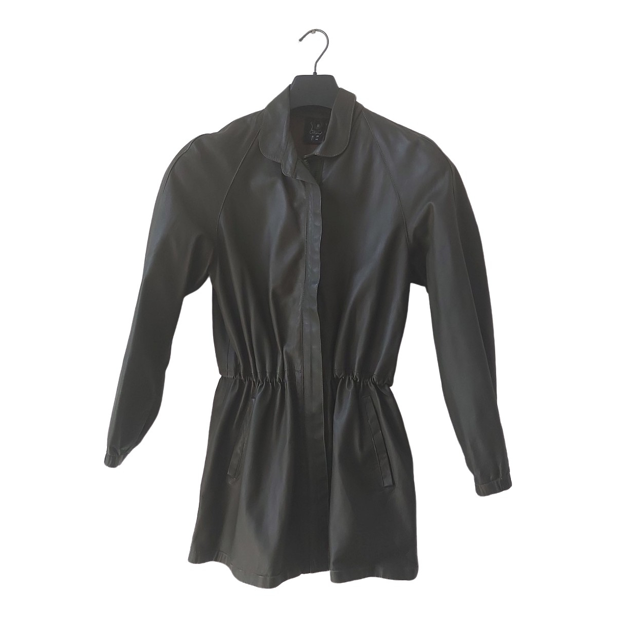 Non Signé / Unsigned \N Green Leather jacket for Women 44 IT