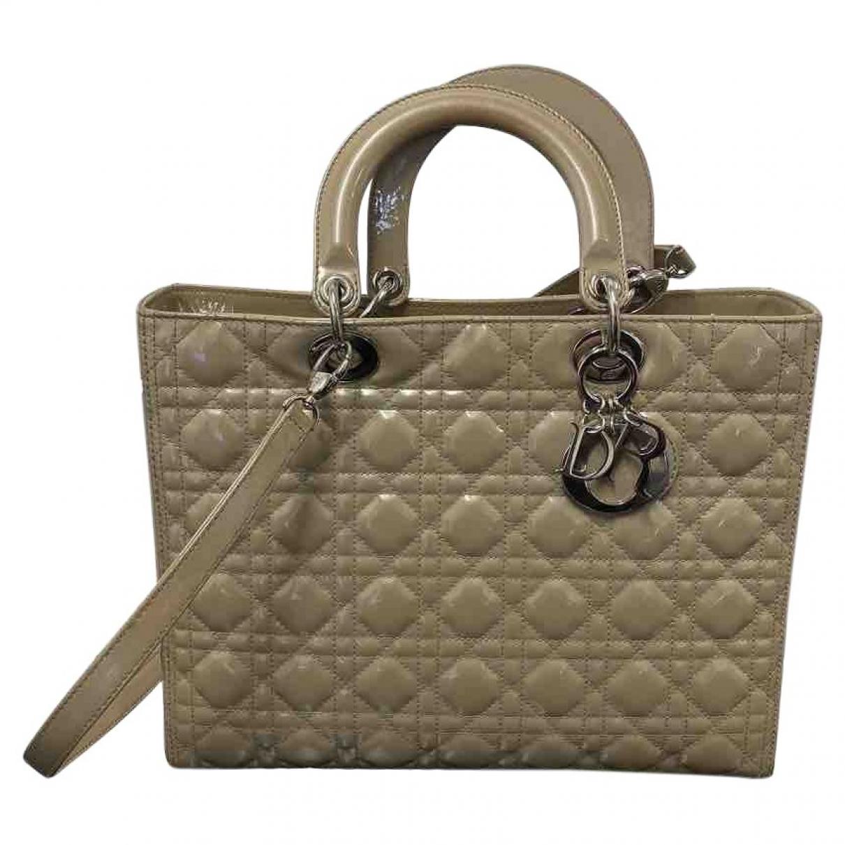Bolso  Lady Dior de Charol Dior