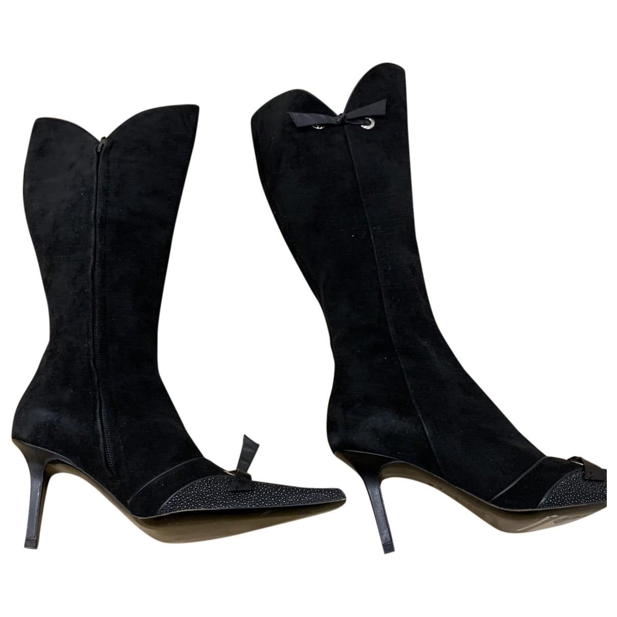 Givenchy - Bottes   pour femme en suede - noir