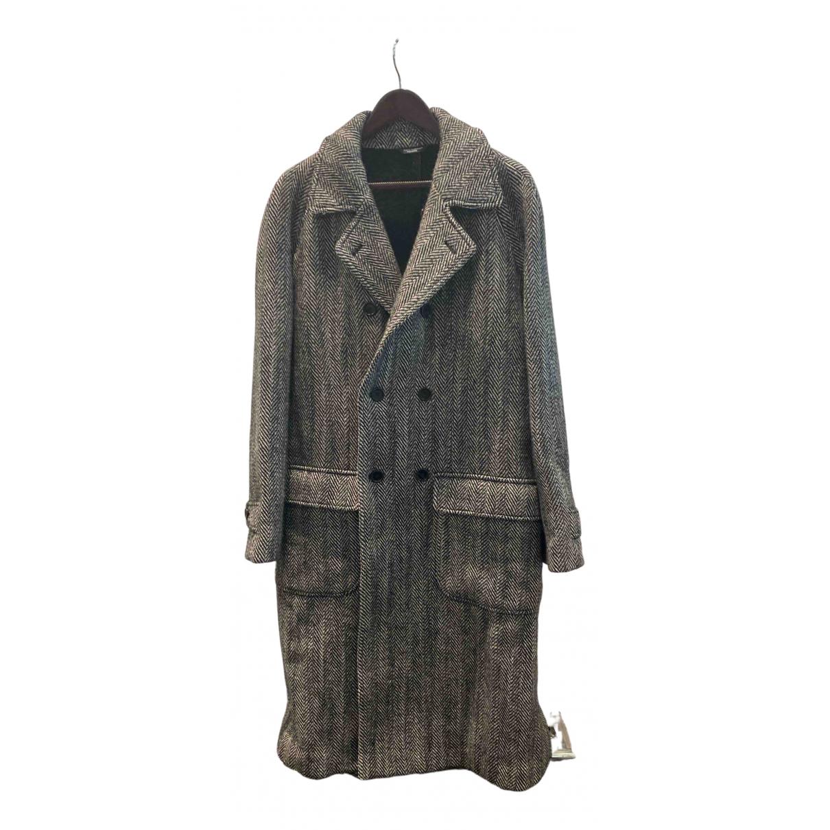 Dolce & Gabbana - Manteau   pour homme en laine - gris