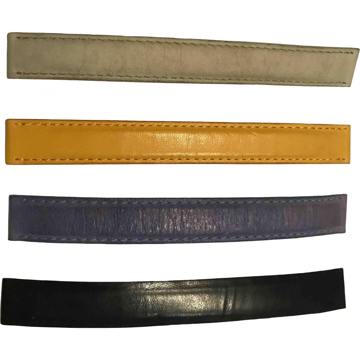 Poiray - Montre Bracelet Ma Premiere pour femme en cuir exotique - jaune