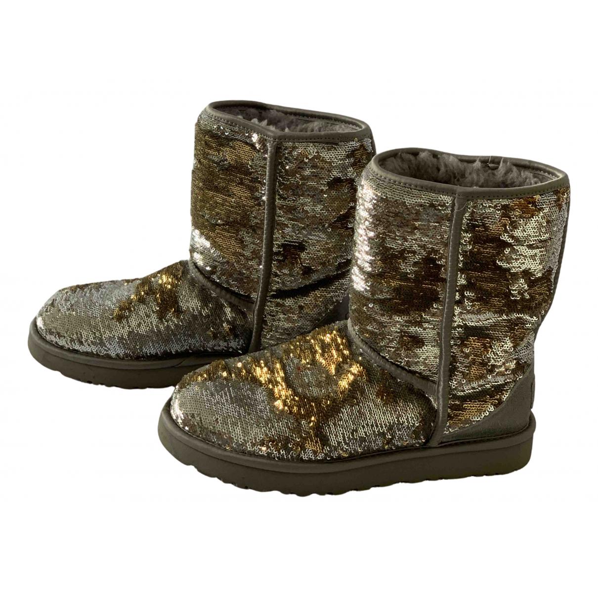 Ugg \N Stiefel in  Gold Mit Pailletten