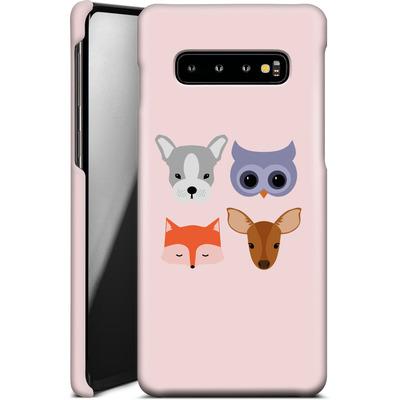 Samsung Galaxy S10 Plus Smartphone Huelle - Animal Friends on Pink von caseable Designs