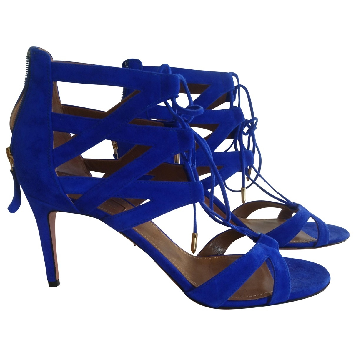Aquazzura \N Blue Suede Sandals for Women 40 IT
