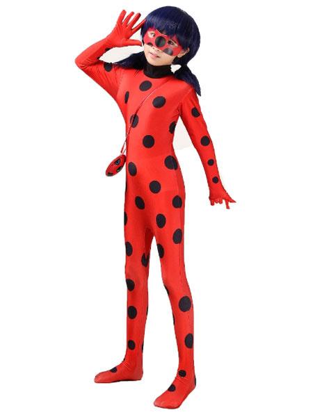 Milanoo Halloween Ladybug Lycra Zentai Jumpsuit Miraculous Tales Of Ladybug Cosplay Costume Halloween