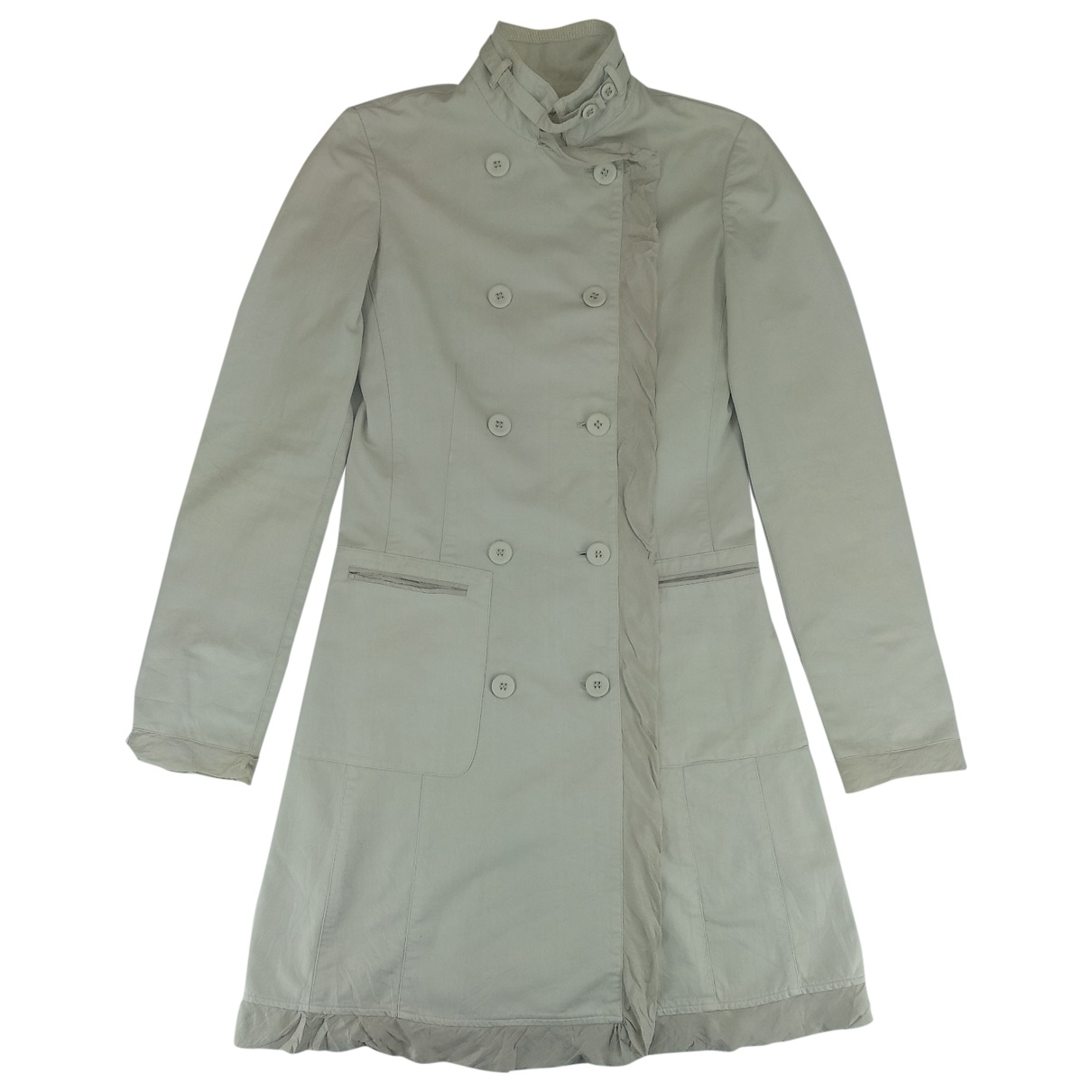 Emporio Armani \N White Cotton Trench coat for Women 34 FR