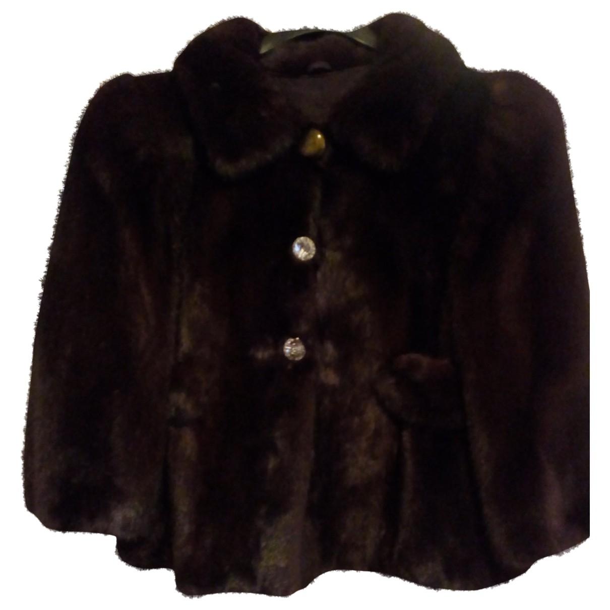 Simonetta Ravizza \N Brown Mink jacket for Women 42 FR