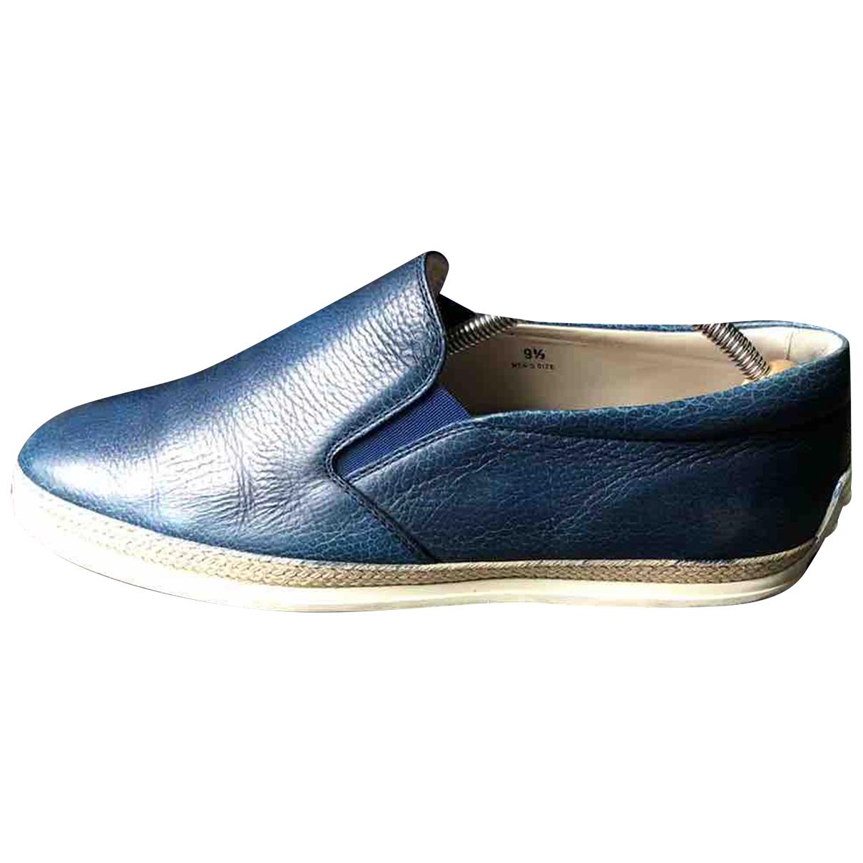 Tods - Espadrilles   pour homme en cuir - bleu