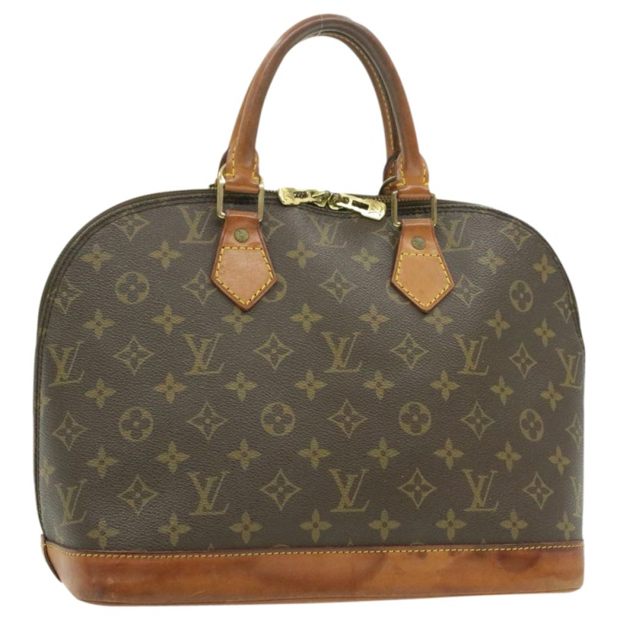 Louis Vuitton Alma Brown Cloth handbag for Women \N