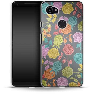 Google Pixel 2 XL Silikon Handyhuelle - Roses von Bianca Green