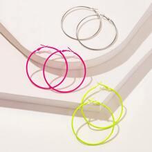 Pendientes de aro sencillos 3 pares
