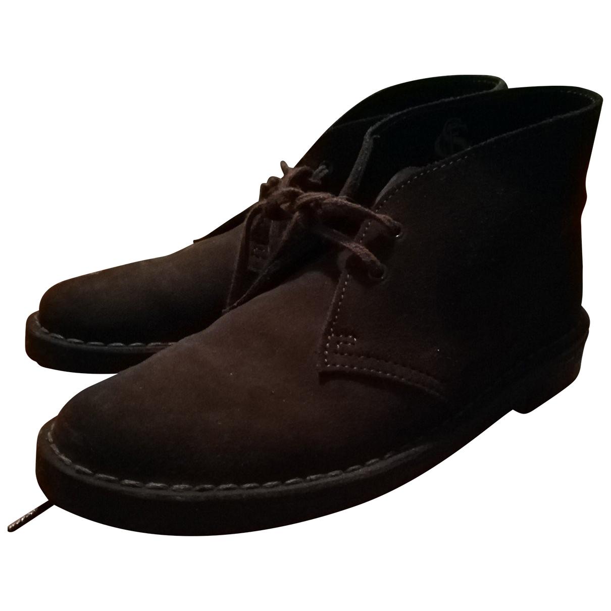 Clarks - Boots   pour femme en cuir - marron