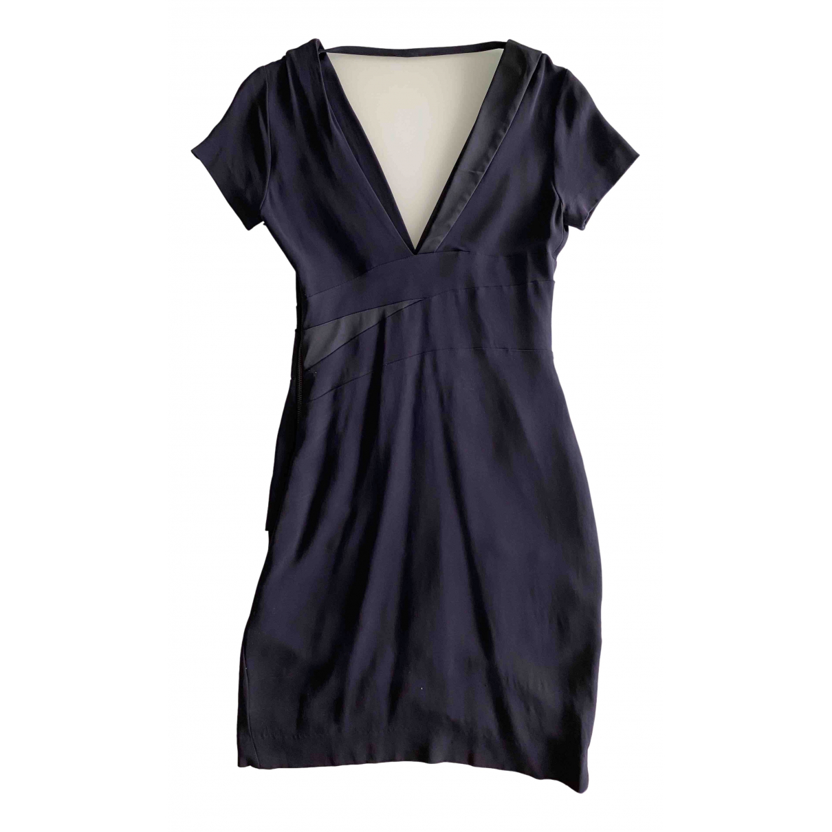 Pinko \N Blue Cotton - elasthane dress for Women 38 FR
