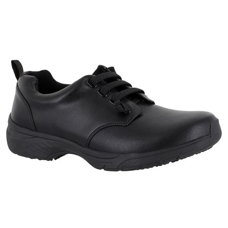 Easy Works By Easy Street Womens Peyton Lace-up Round Toe Sneakers, 8 Medium, Black