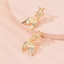 Goldfish Design Stud Earrings